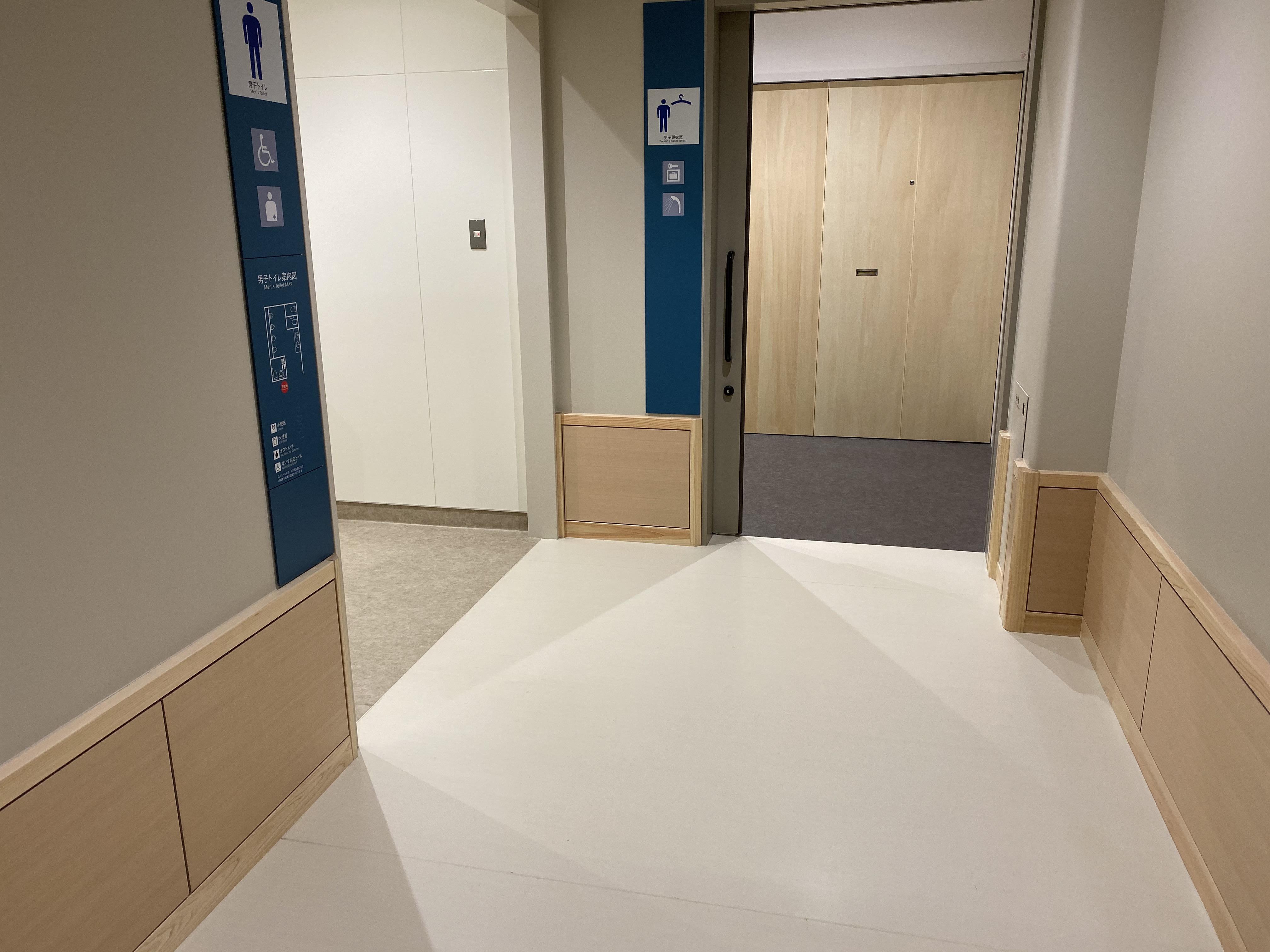 トイレと更衣室の入り口