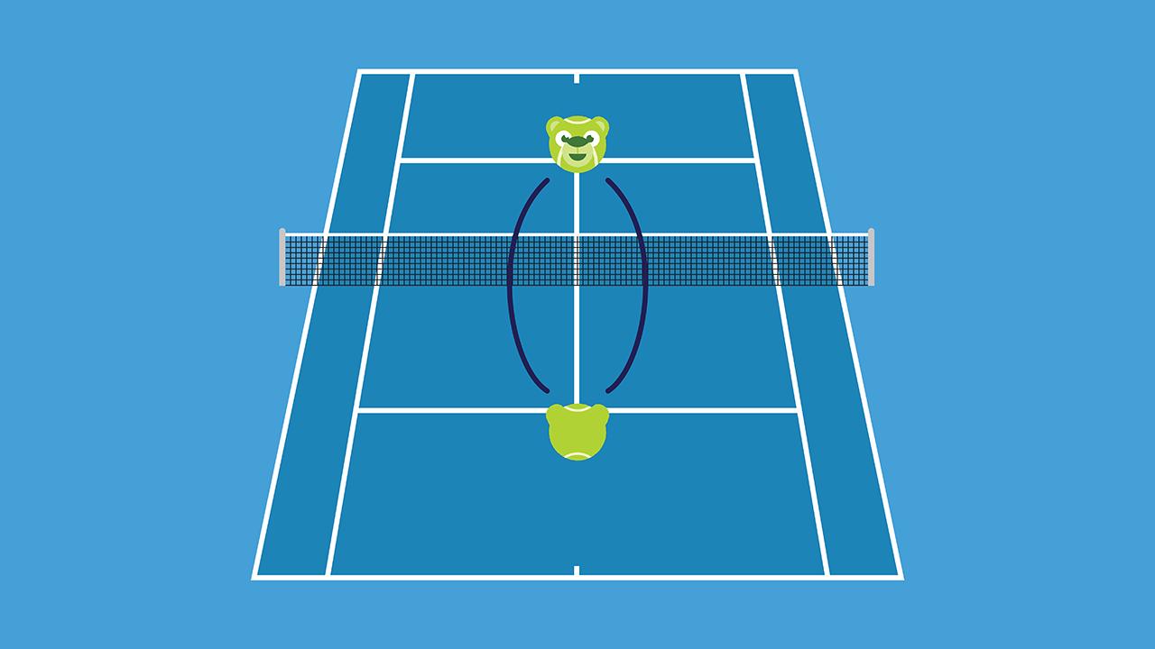 テニスの練習メニュー ショートラリー