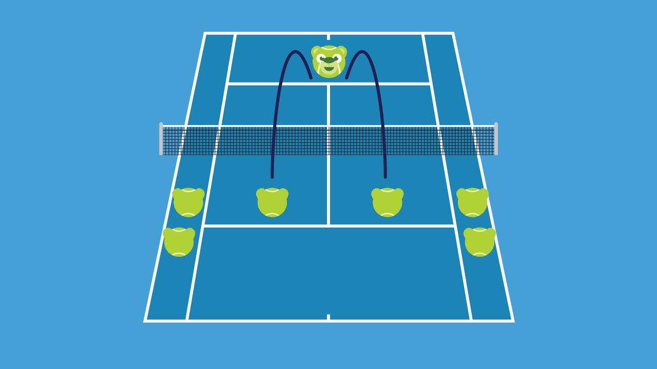 テニスの練習メニュー ラケット出しスマッシュ