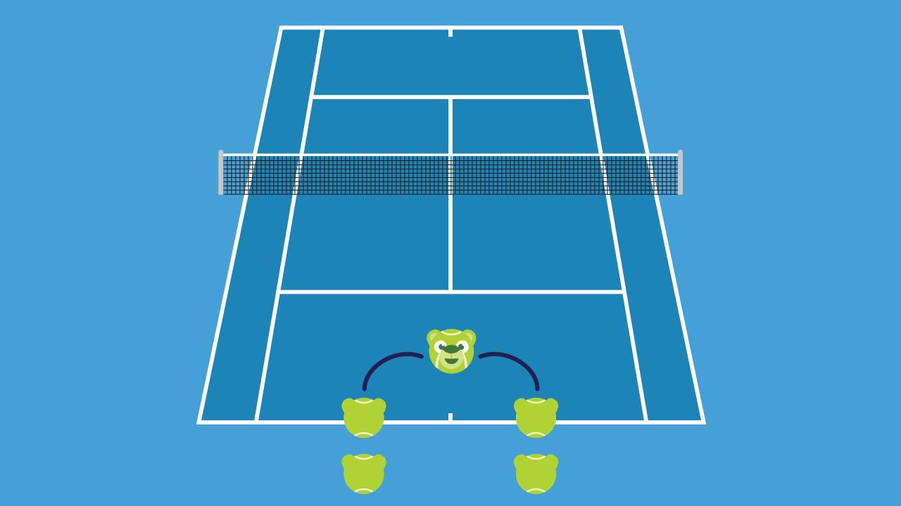 テニスの練習メニュー 手出しストローク
