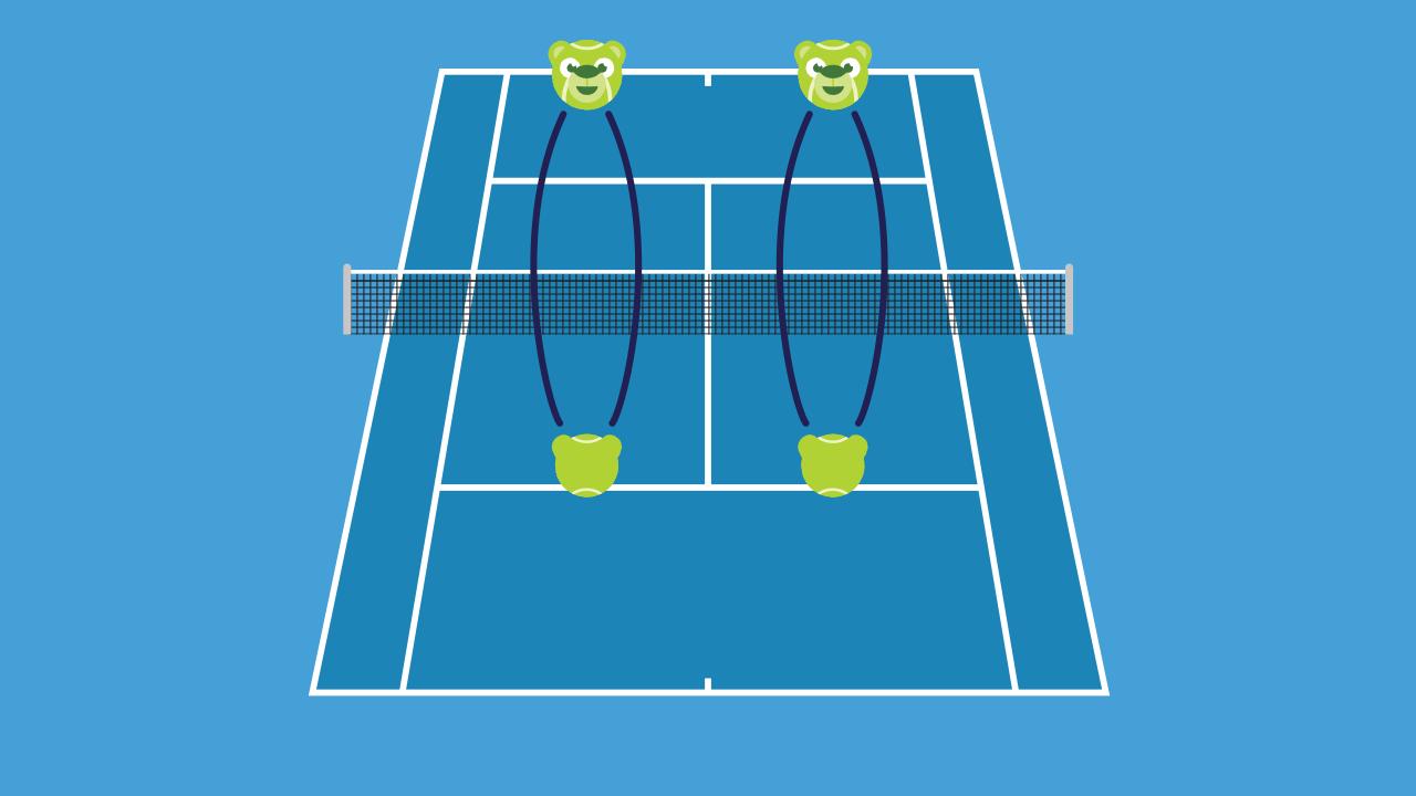 テニスの練習メニュー ボレー対ストローク(ボレスト)